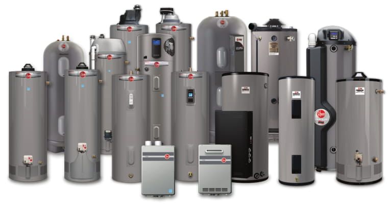 rheem water heater installation