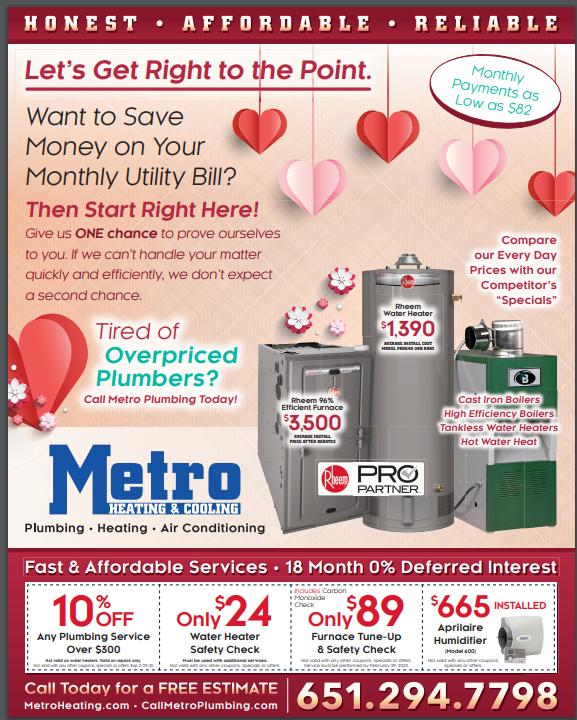 metro heating specials